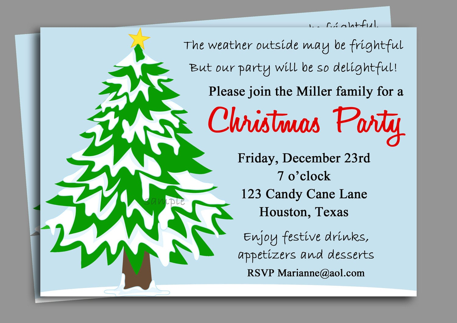 Office Christmas Party Invitation Email