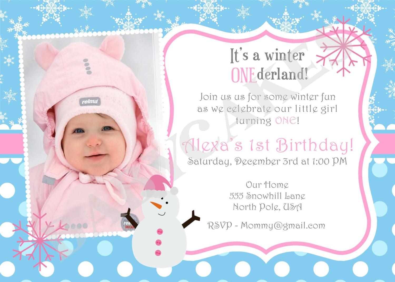 One Year Birthday Party Invitation Wording