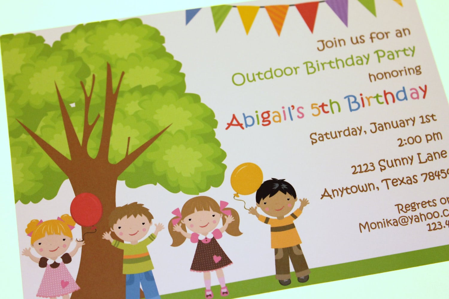 Outdoor Birthday Party Invitations By Pmcinvitations On Etsy