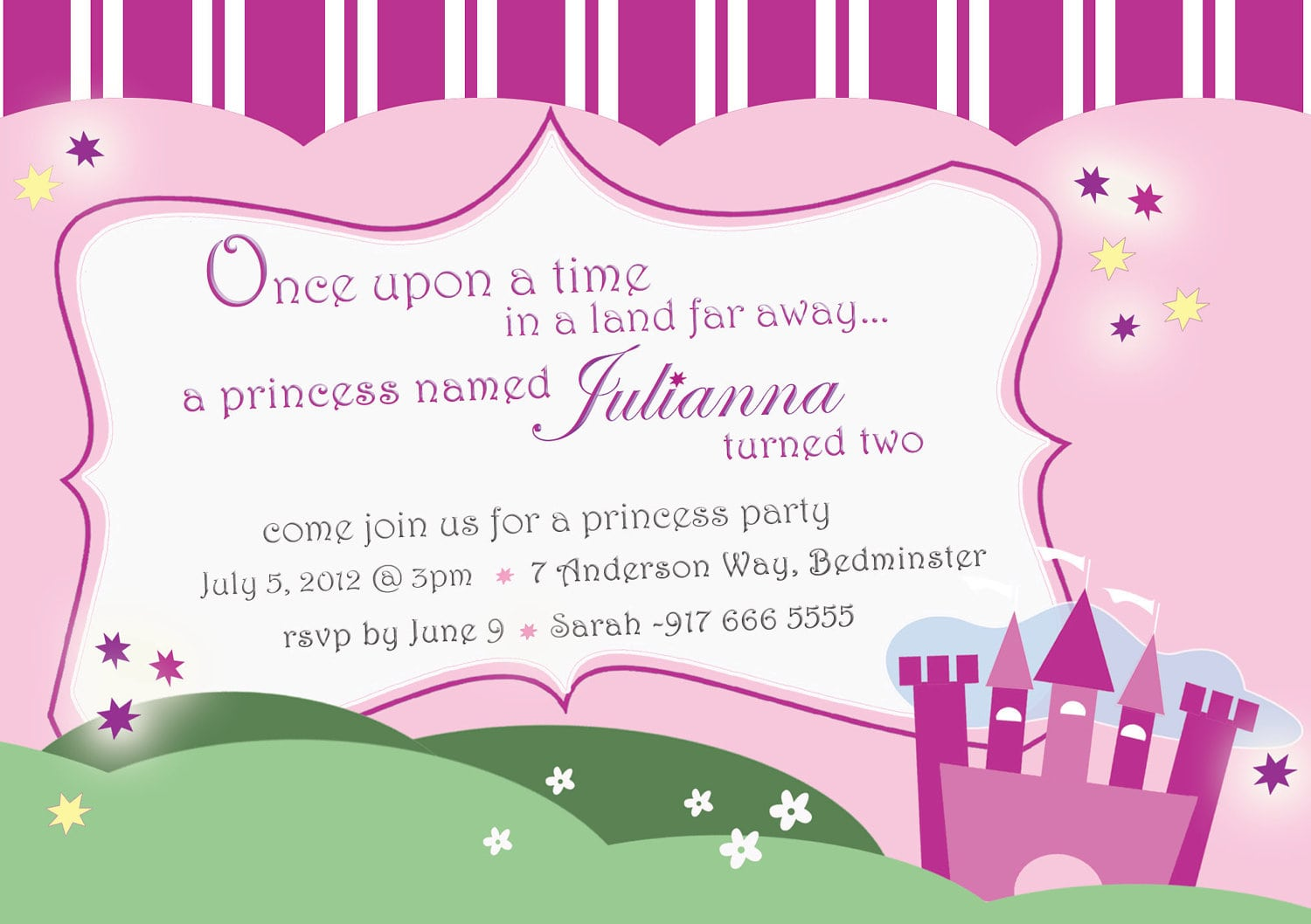 Outstanding Free Princess Party Invitation Template Further