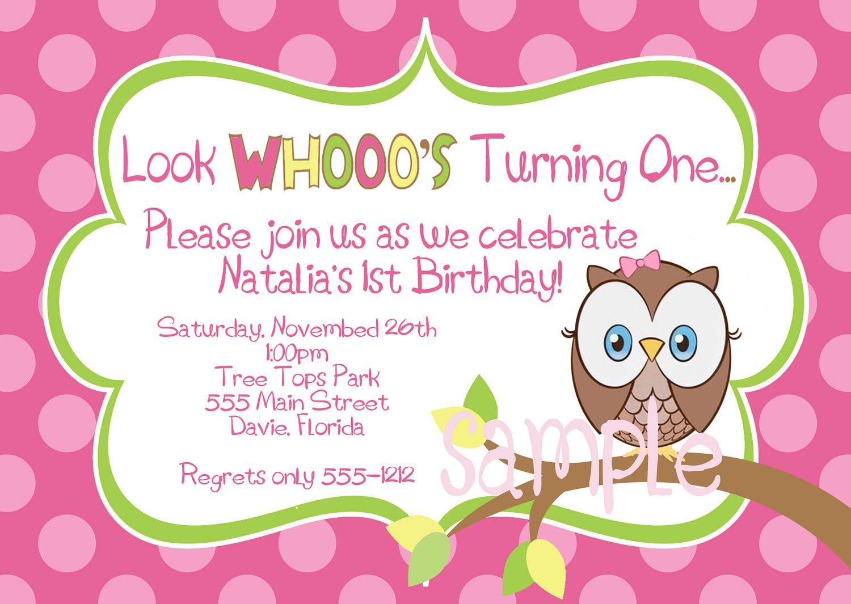 Owl Party Invitations – Gangcraft Net