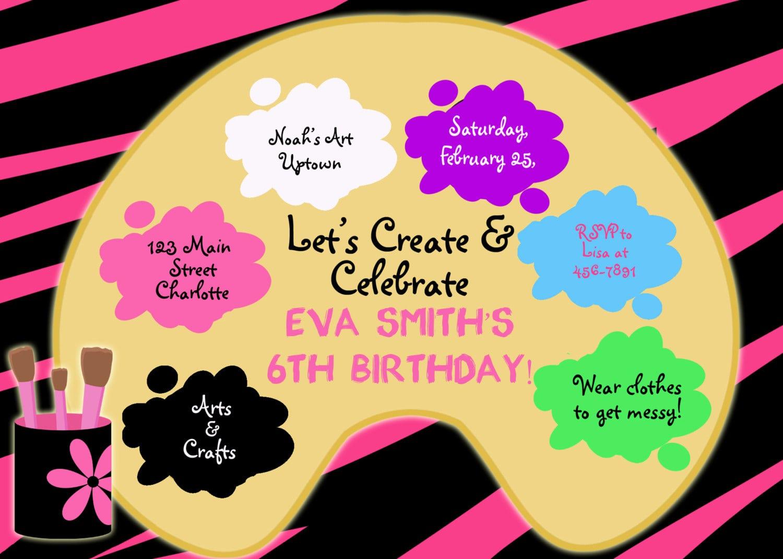 Paint Birthday Party Invitation