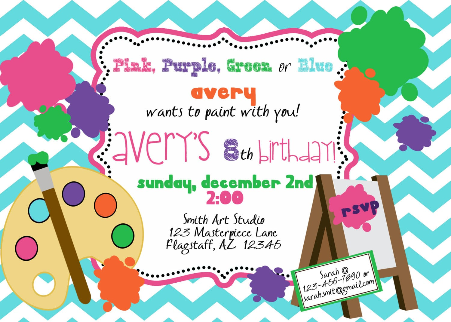 Painting Party Invitations – Gangcraft Net