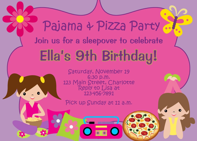 Pajama party birthday invitations pajamapartybirthdayinvitations5g filmwisefo