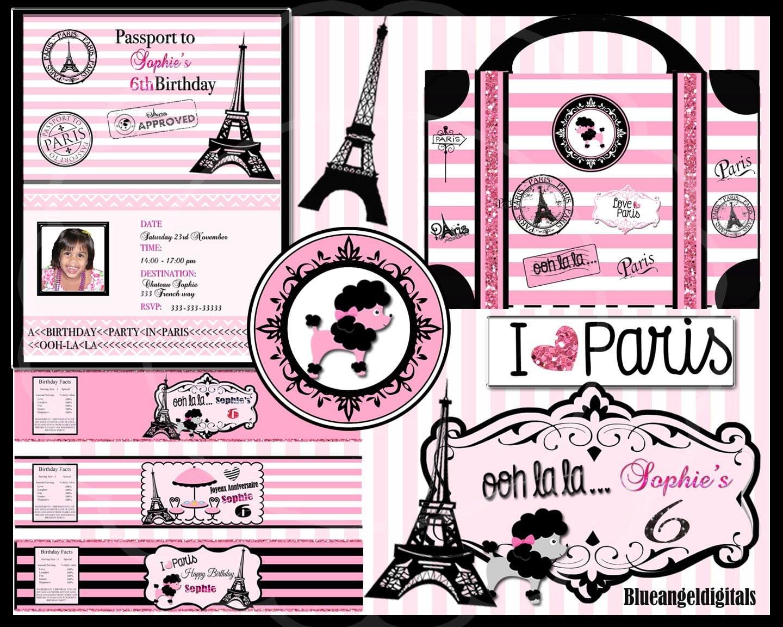 Paris Theme Party Paris Birthday Paris Party Paris Invitation