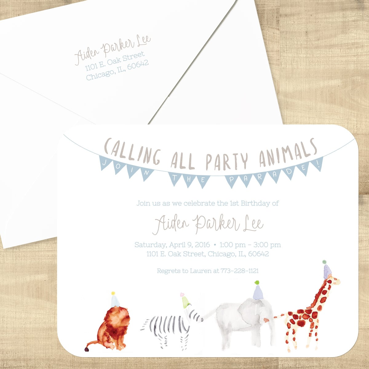 Party Animals Birthday Invitation