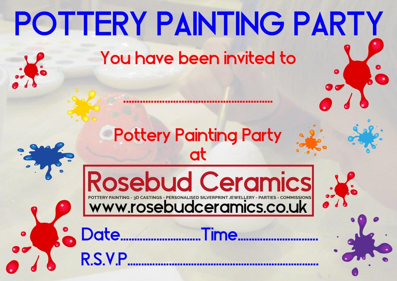 Party Invitations – Rosebud Ceramics