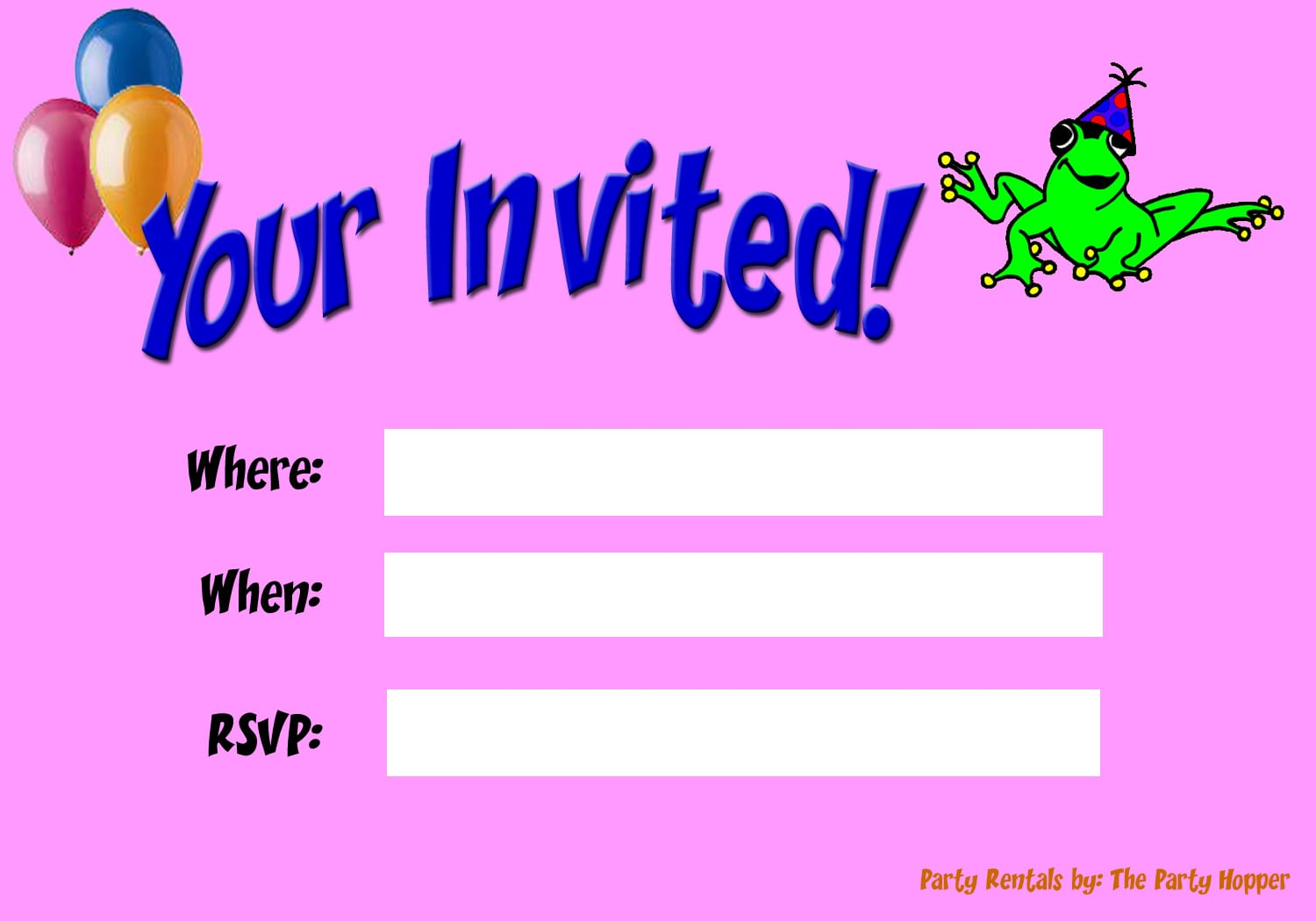 Party Invitations Online
