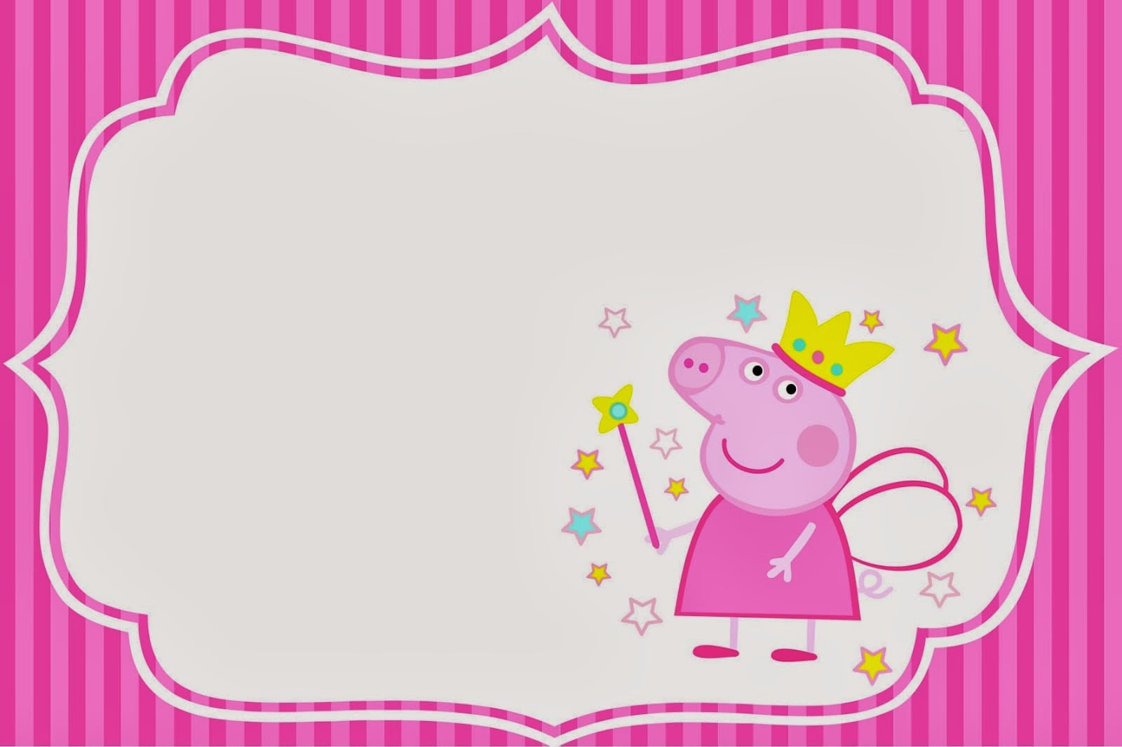 Peppa Pig Fairy  Invitations And Free Party Printables