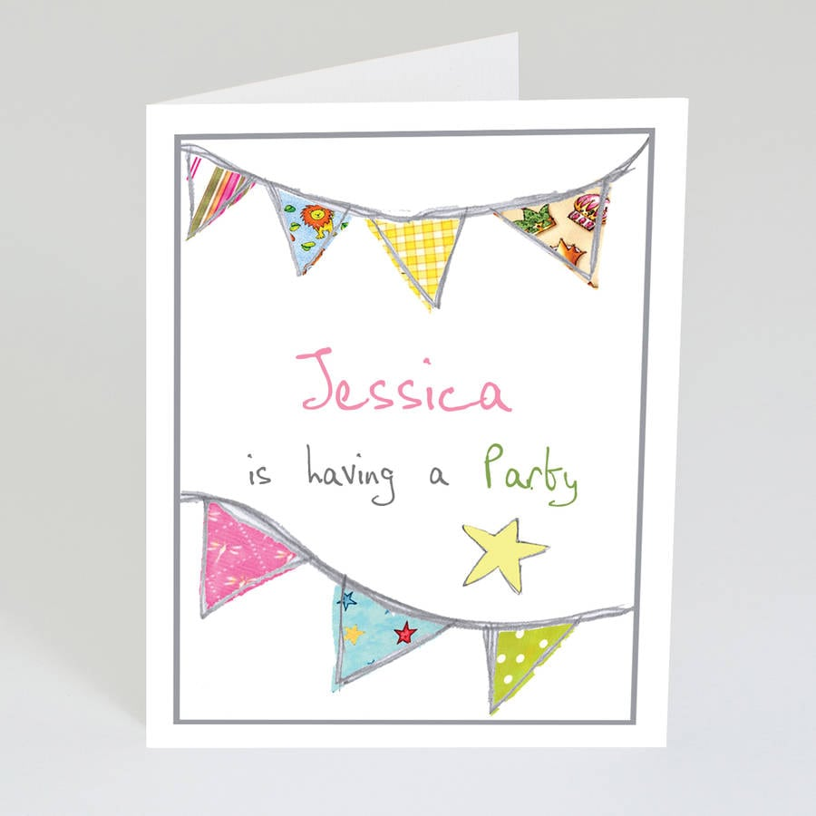 Personalised Children's Party Invitations By Violet Pickles