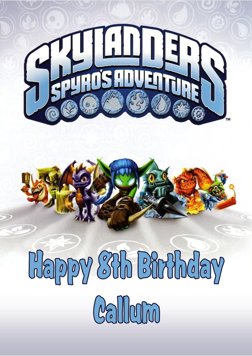 Personalised Skylanders Birthday Card