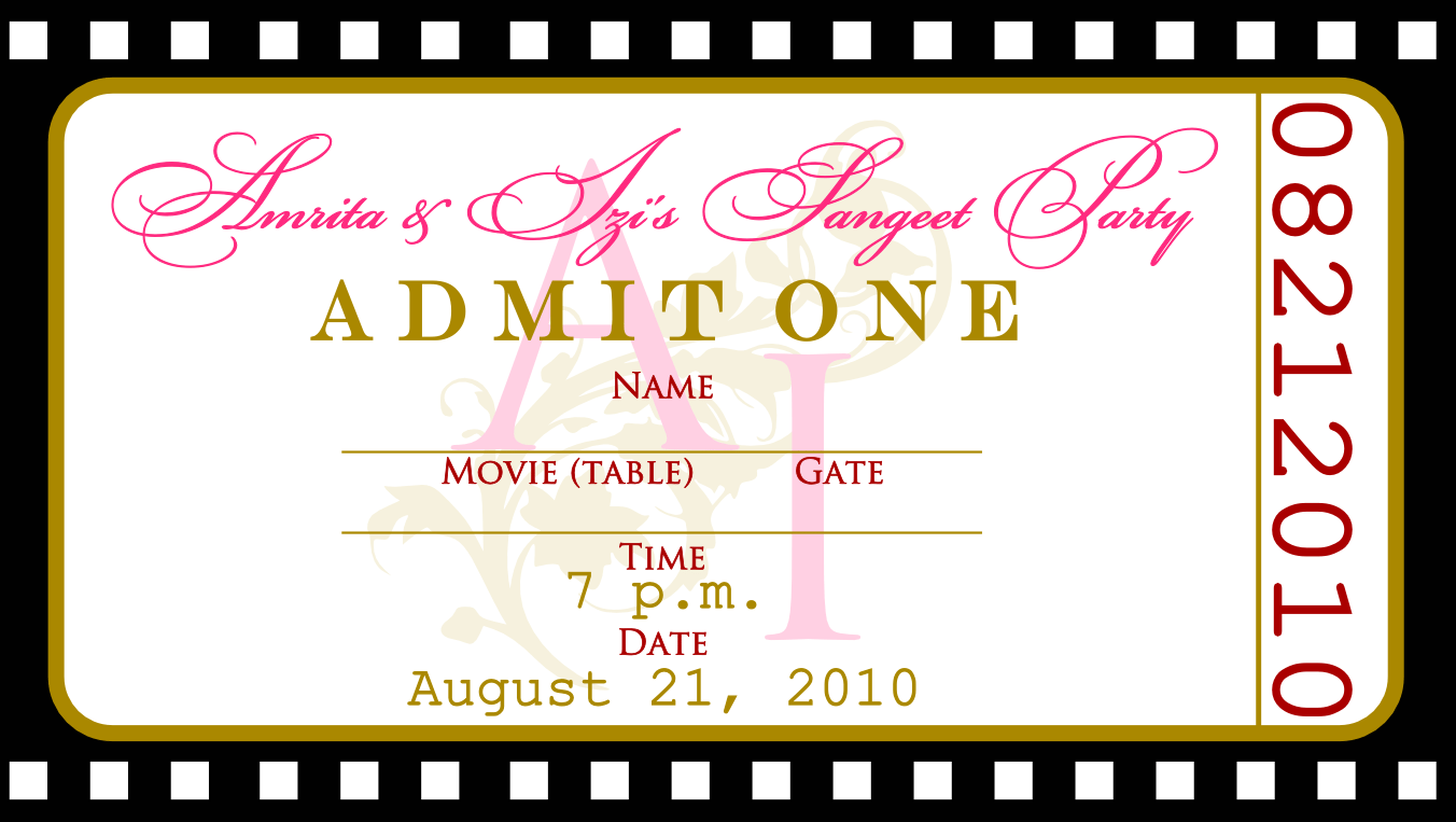 Photo   Ticket Party Invitation Template Images