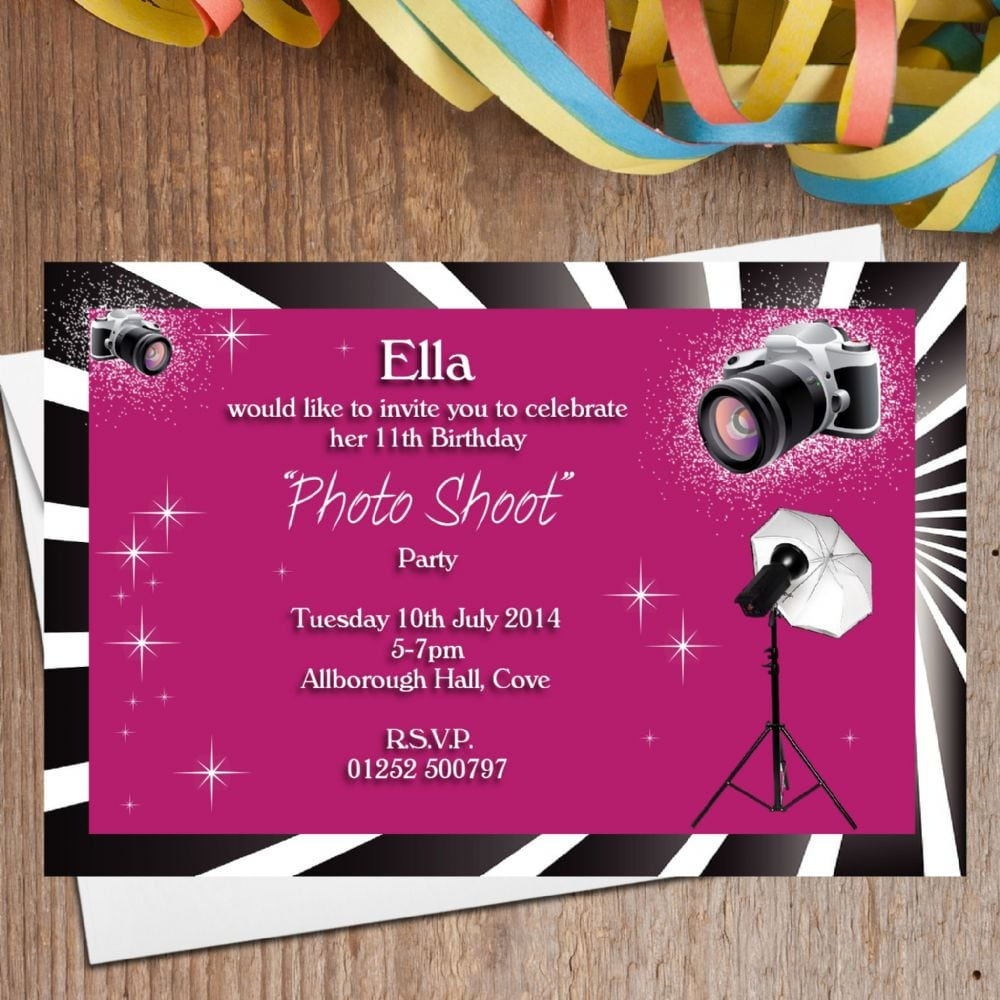 Photoshoot Party Invitations At Expertreview Us