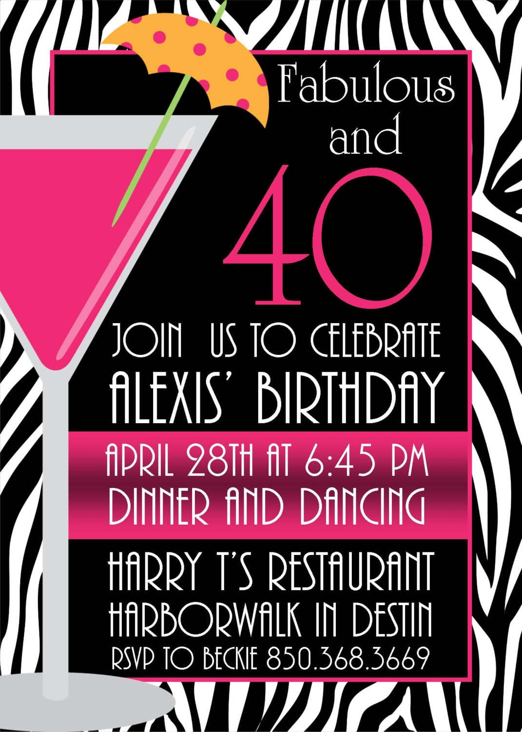 Pictures Of Stylish Women For 40th Birthday Invitation