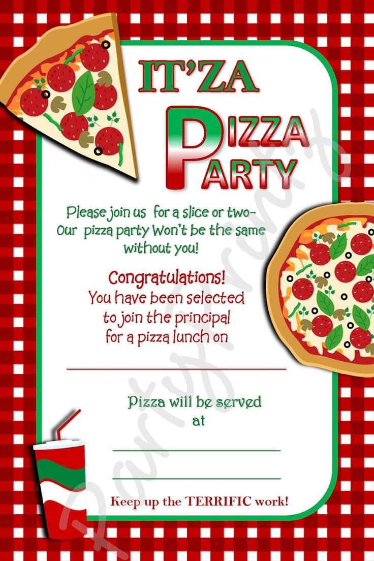 Pizza Party Invitations