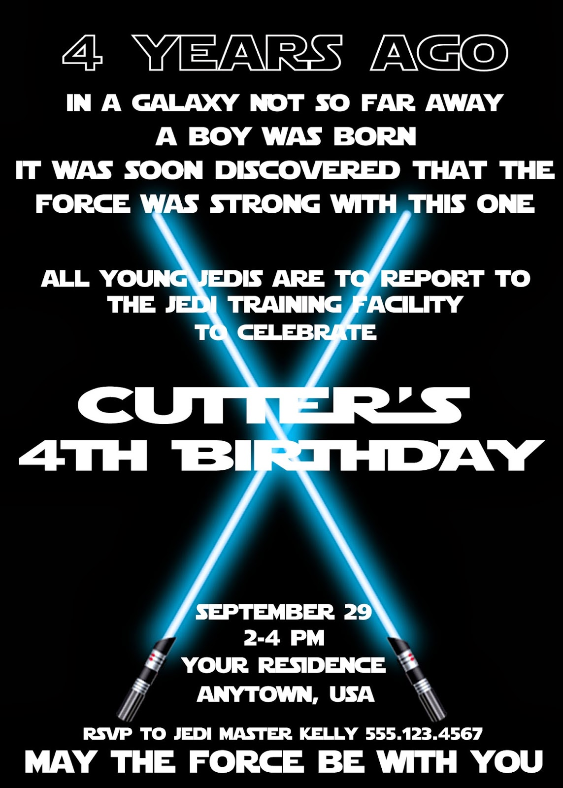 Star Wars Birthday Party Invitations Template Choice Image