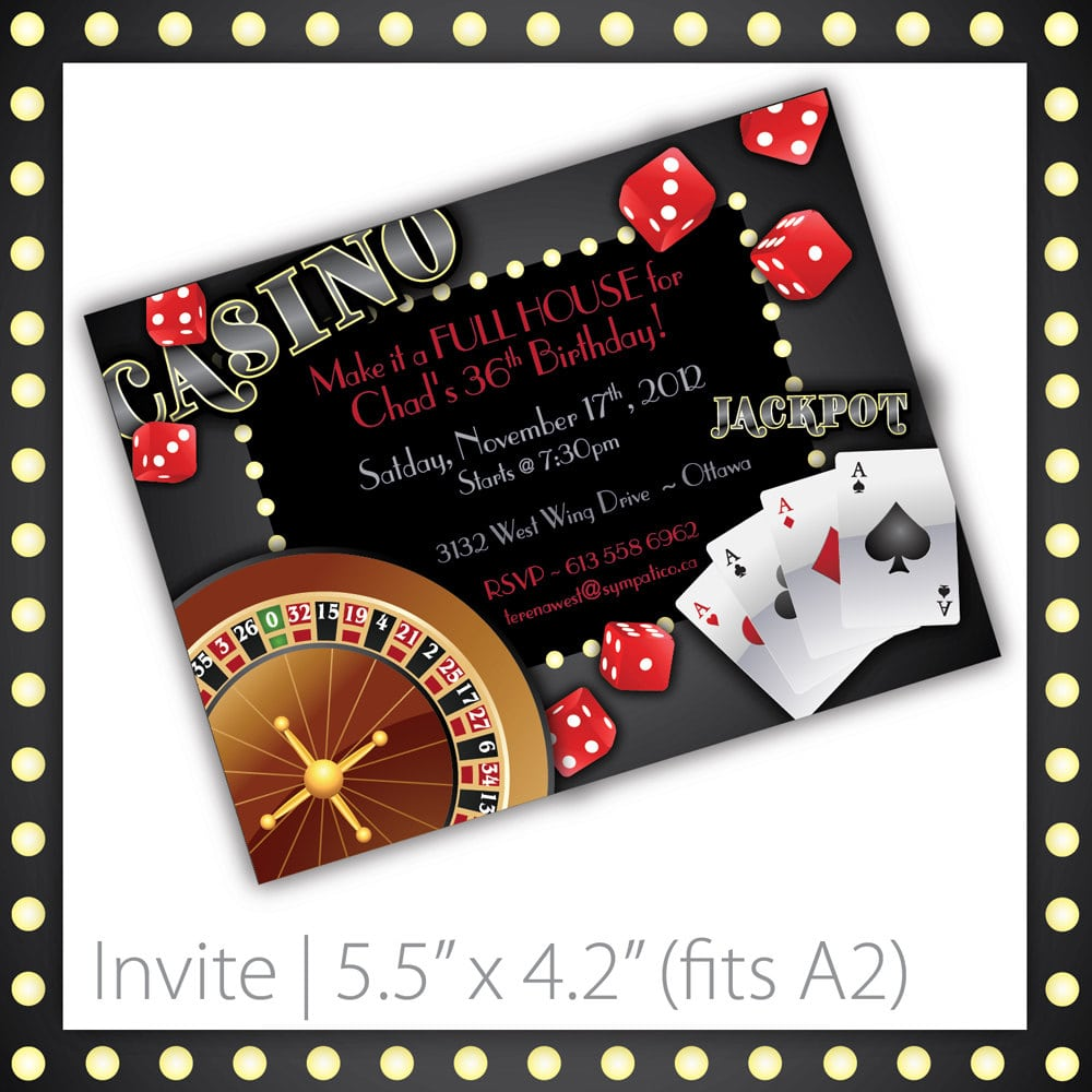Poker Party Invitation Template Mickey Mouse Invitations Templates - Party invitation template: casino theme party invitations template free