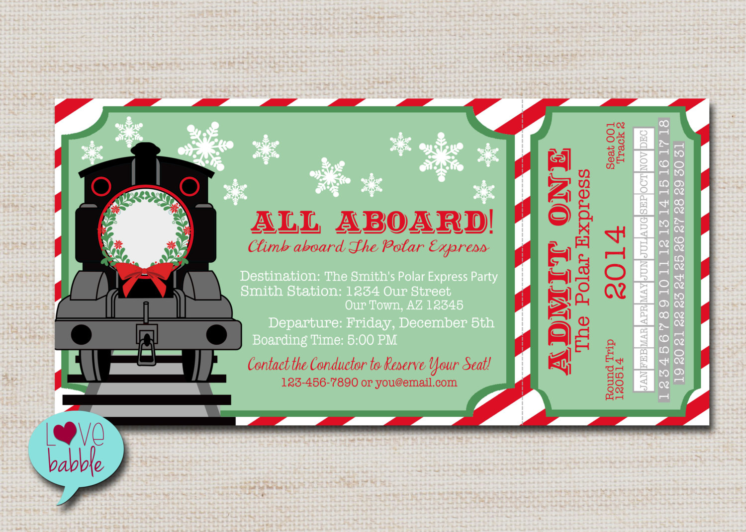 Polar Express Invite