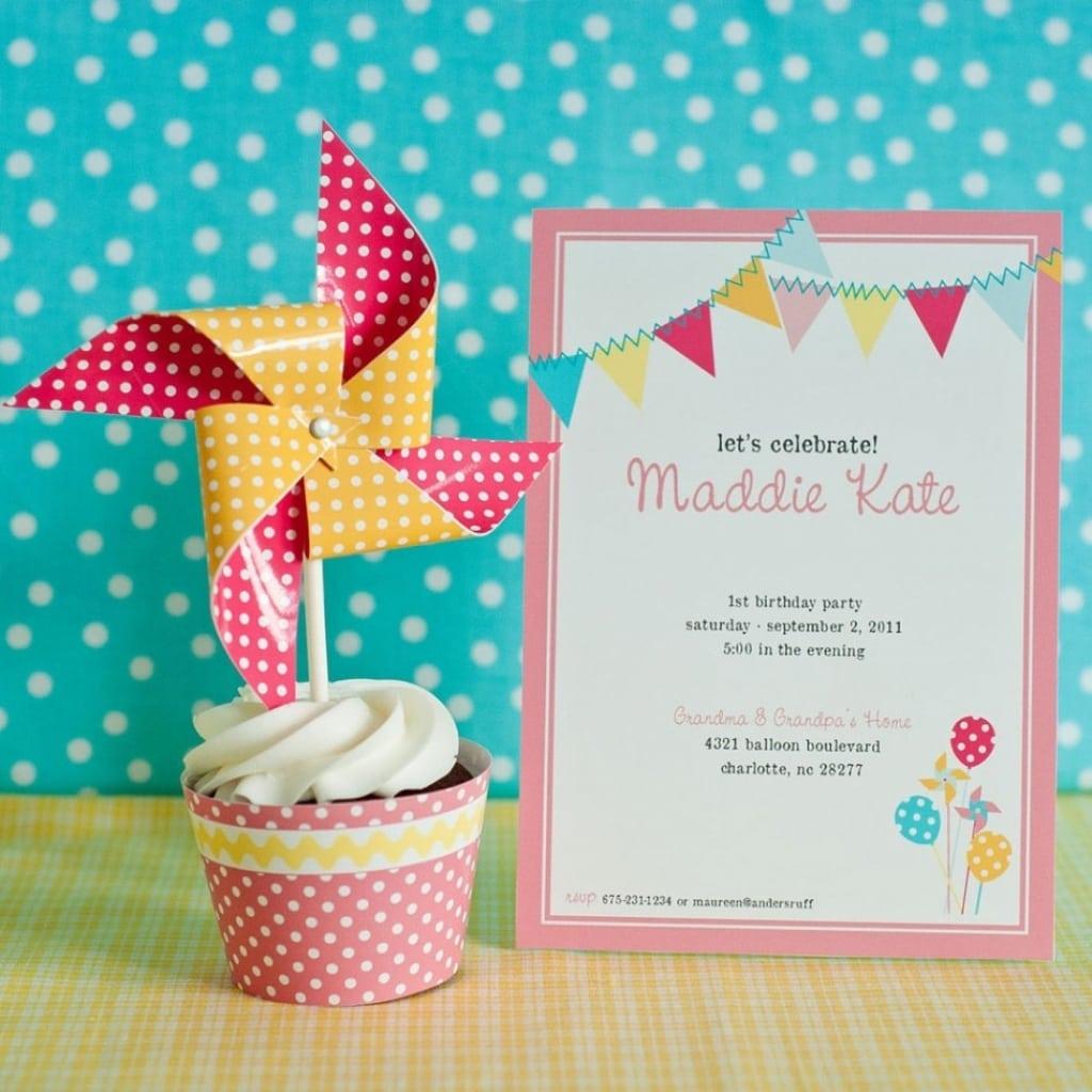 Polka Dot Party Invitations Lollipop Polka Dot Sweet Shoppe