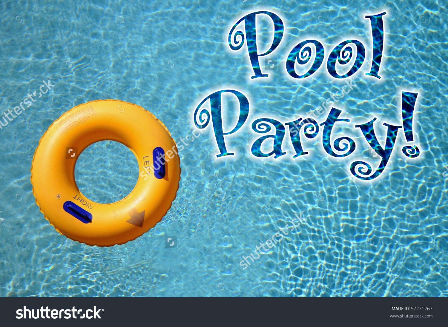 Pool Party Invitation Concept Stock Photo 57271267