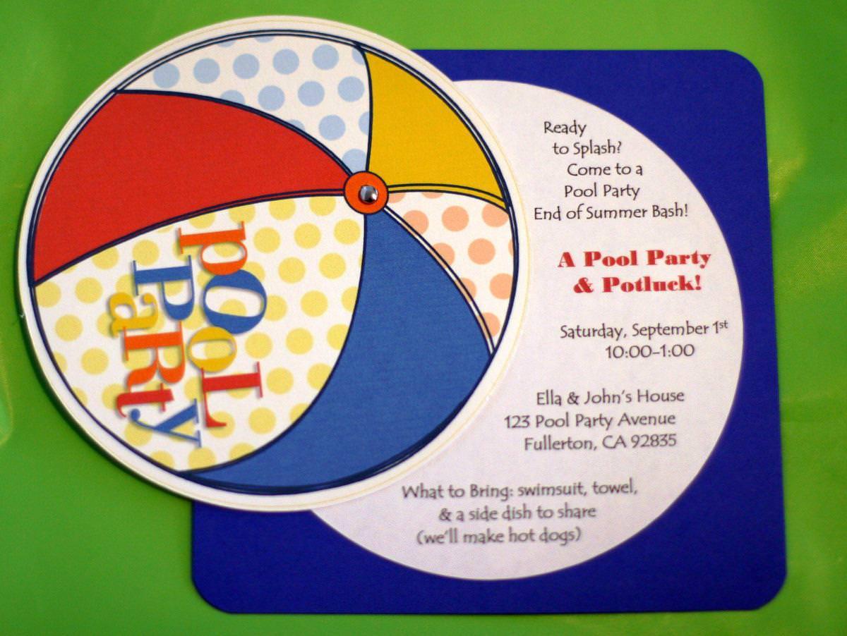 Pool Party Invitation Ideas