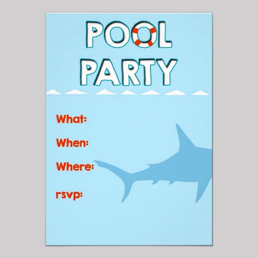 Pool Party Invitation Template – Gangcraft Net