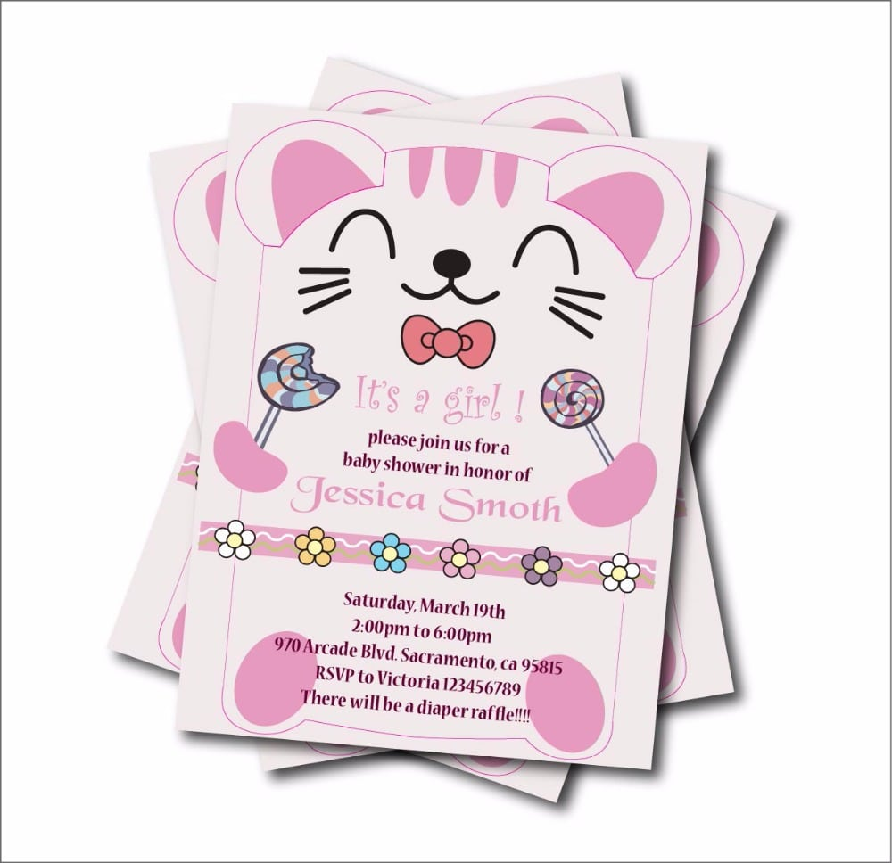 Popular Cat Party Invitations