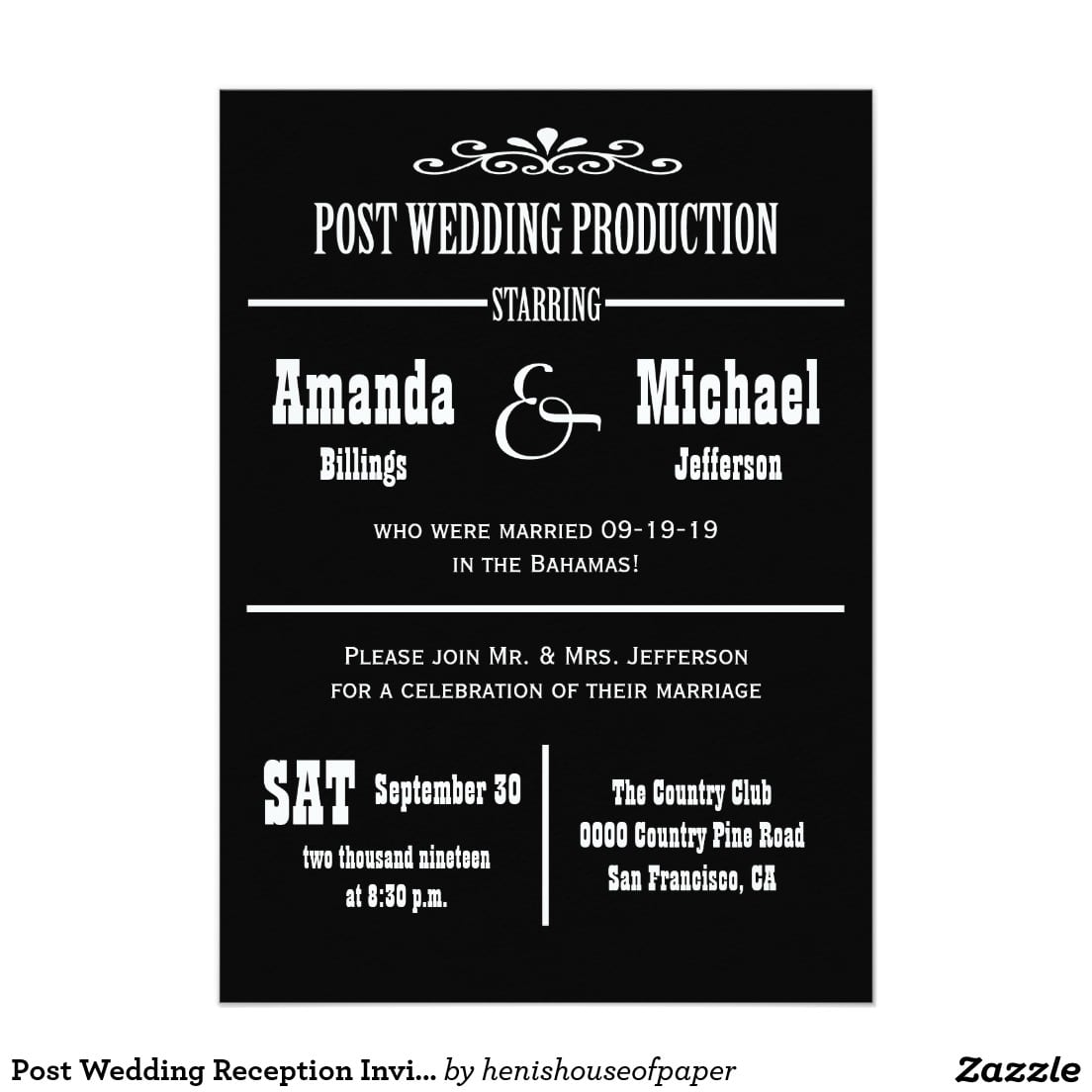 Post Wedding Party Invitations – Gangcraft Net