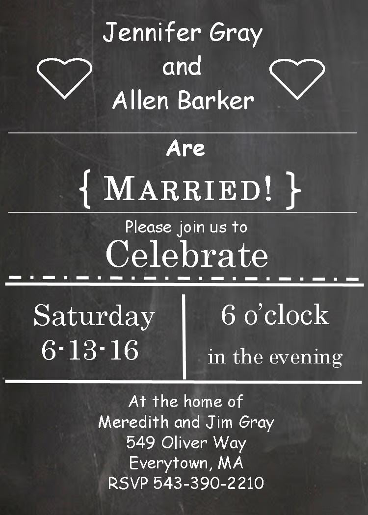 Post Wedding Party Invitations Wording - Mickey Mouse Invitations ...