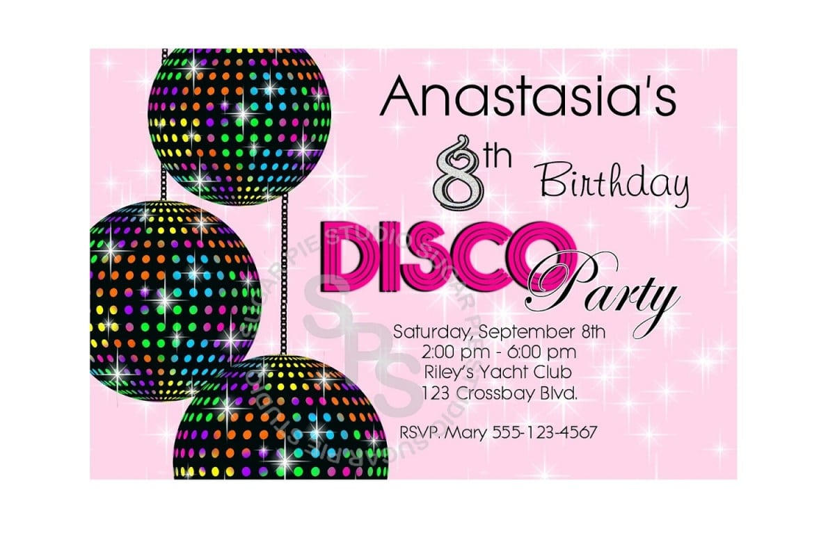 Invitations Page 34 of 109 Mickey Mouse Invitations Templates – Disco Party Invitations Free
