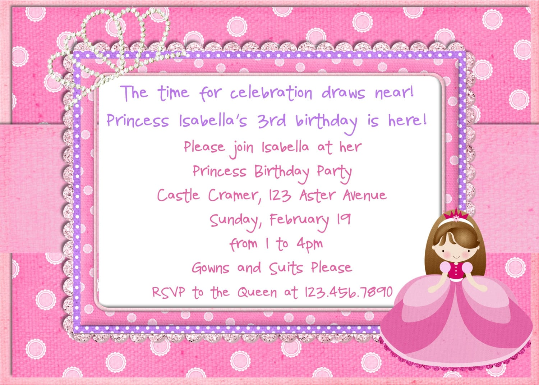Princess Birthday Party Invitations Ideas