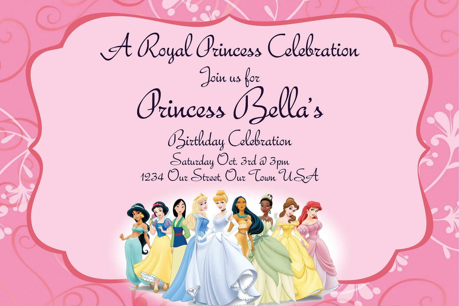Princess Party Invitation Wording – Gangcraft Net