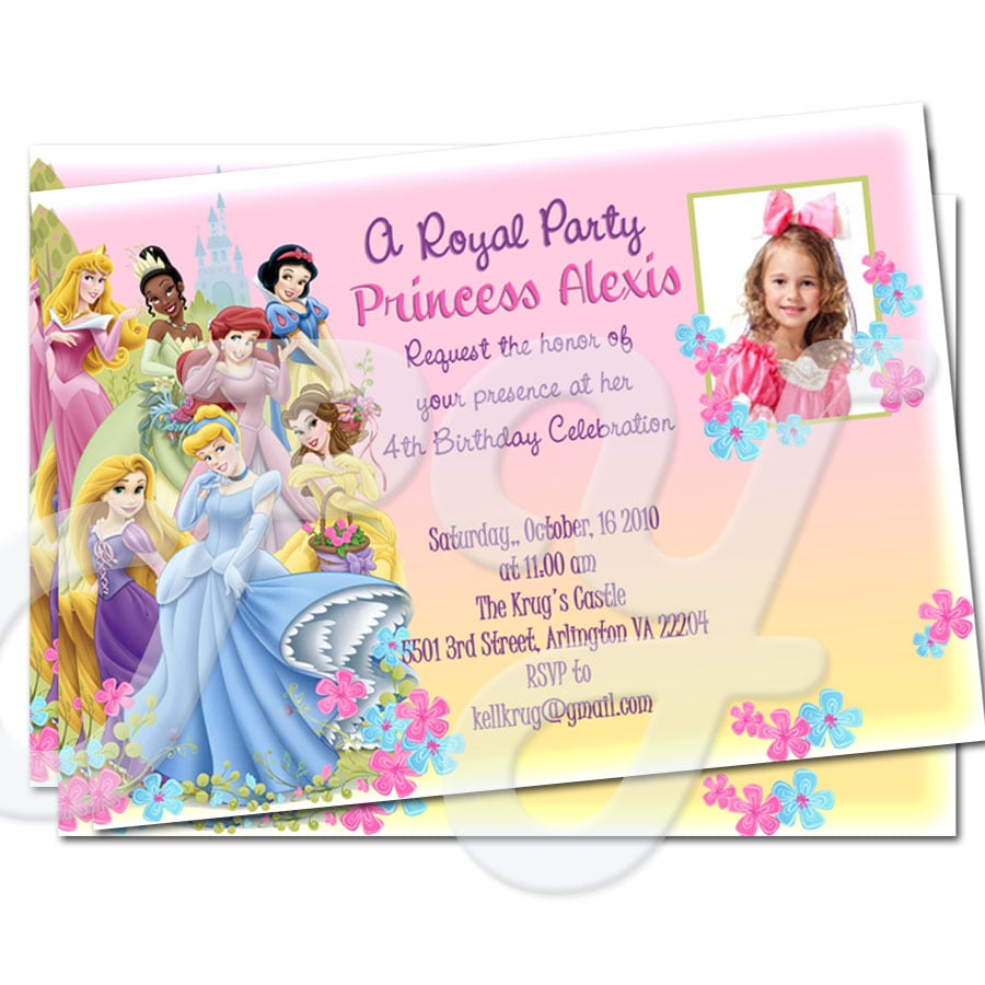 Princess Personalized Invitations