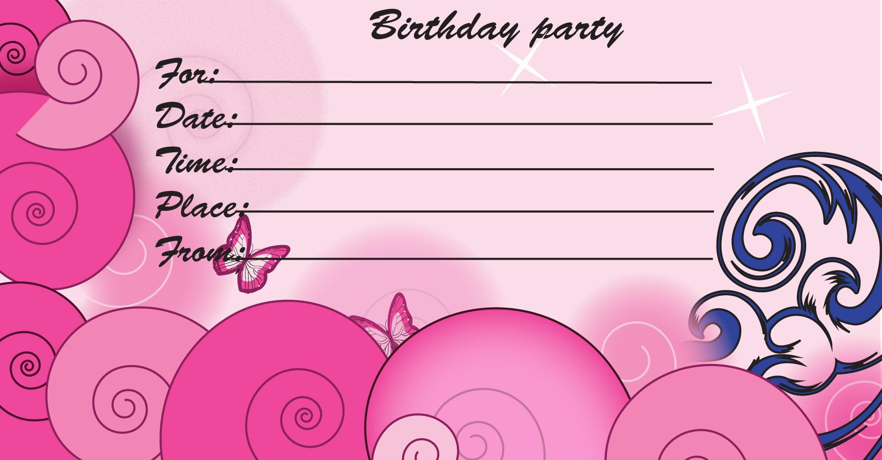Printable Birthday Invitations Free