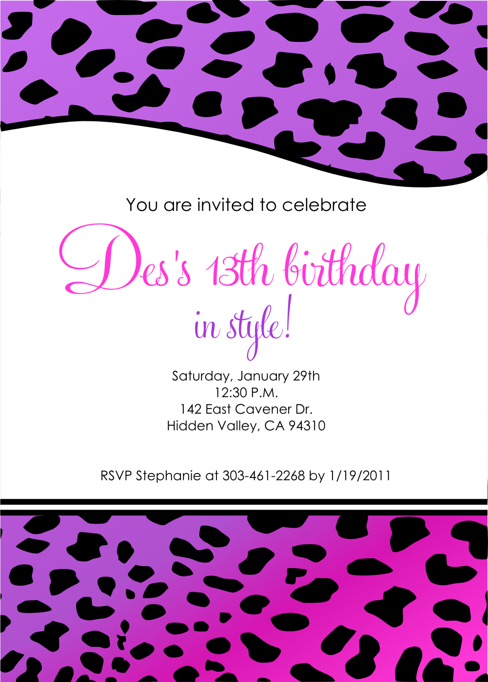 12 year old birthday party invitations filmwisefo