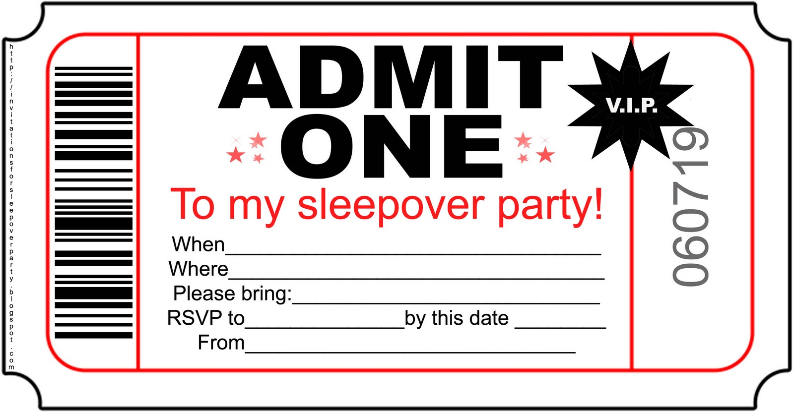 Free Printable Birthday Party Invitations For Teenagers Mickey