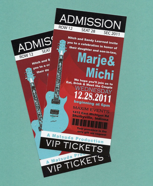 Printable Diy Concert Rock N' Roll Birthday, Concert Tickets