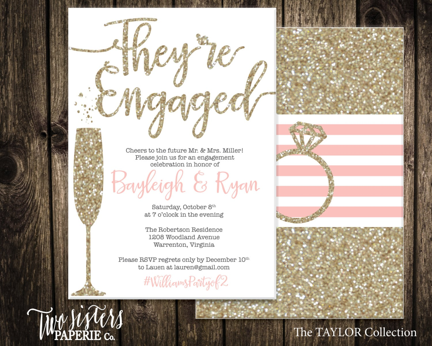 Engagement party invitations etsy mickey mouse for Etsy engagement party invites