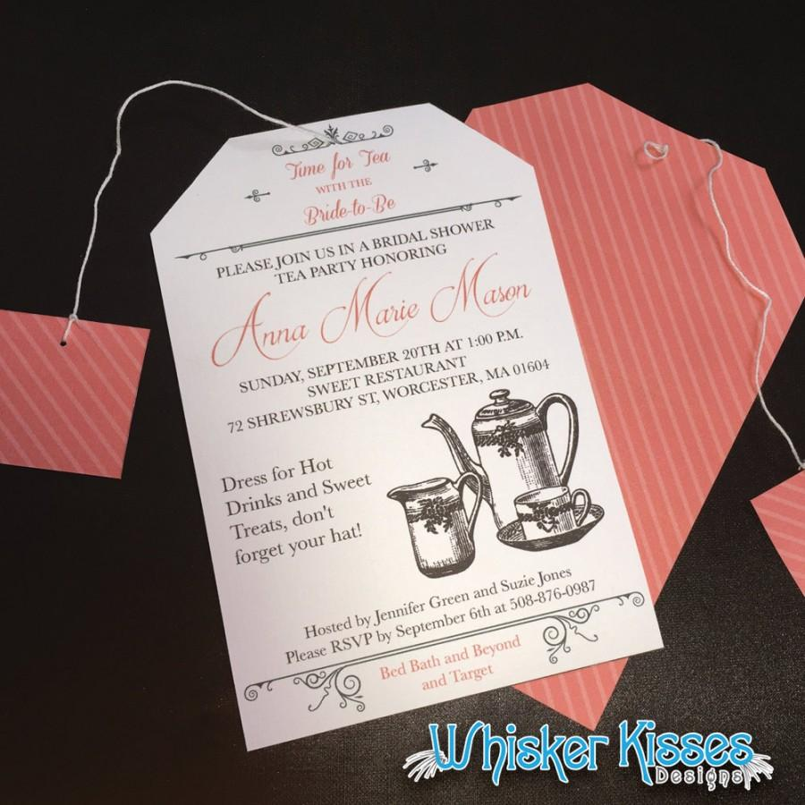 Printable Or Professionally Printed Bridal Shower Invitation