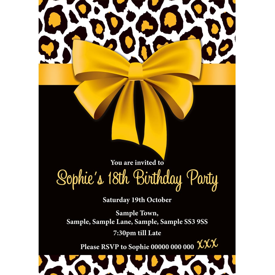 Fine Animal Print Party Invitations Photos - Invitation Card Ideas ...