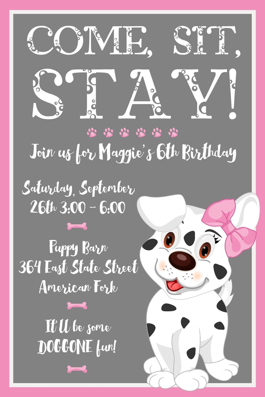 puppy party invitations  ukrobstep, invitation samples