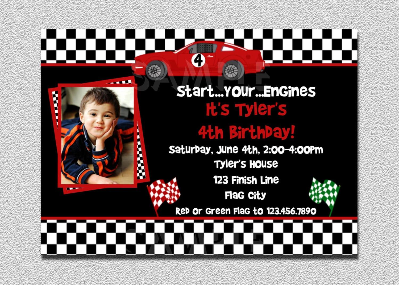 Race Car Birthday Invitation Race Car Birthday Party