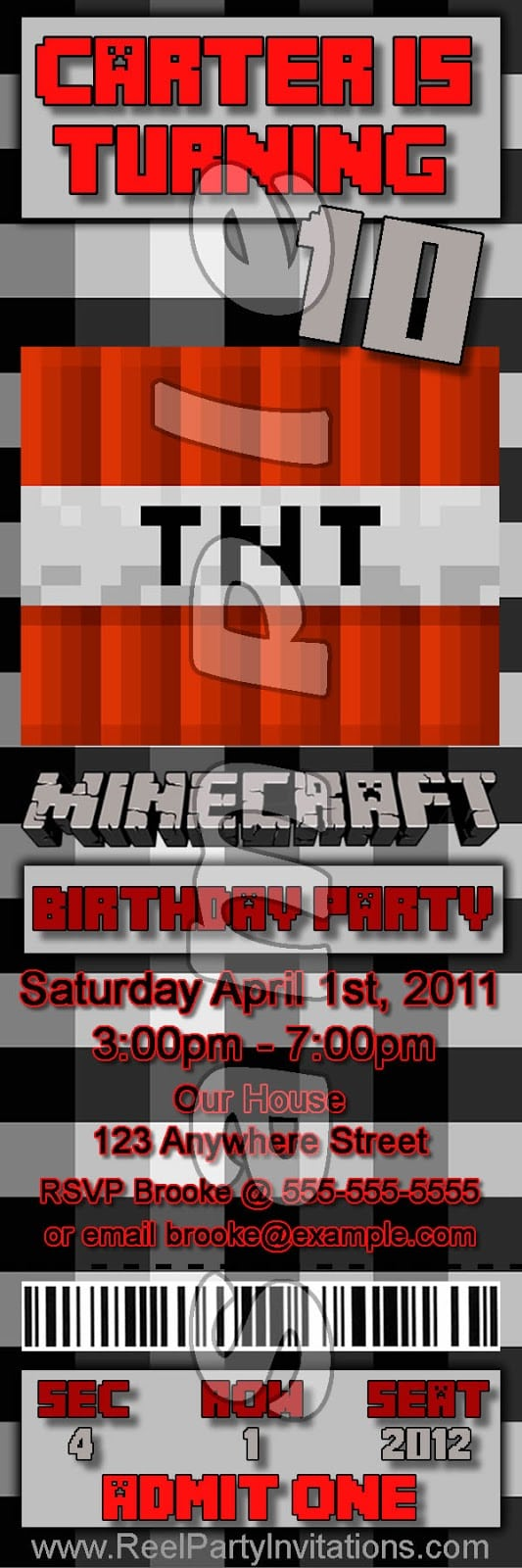 Reel Party Invitations