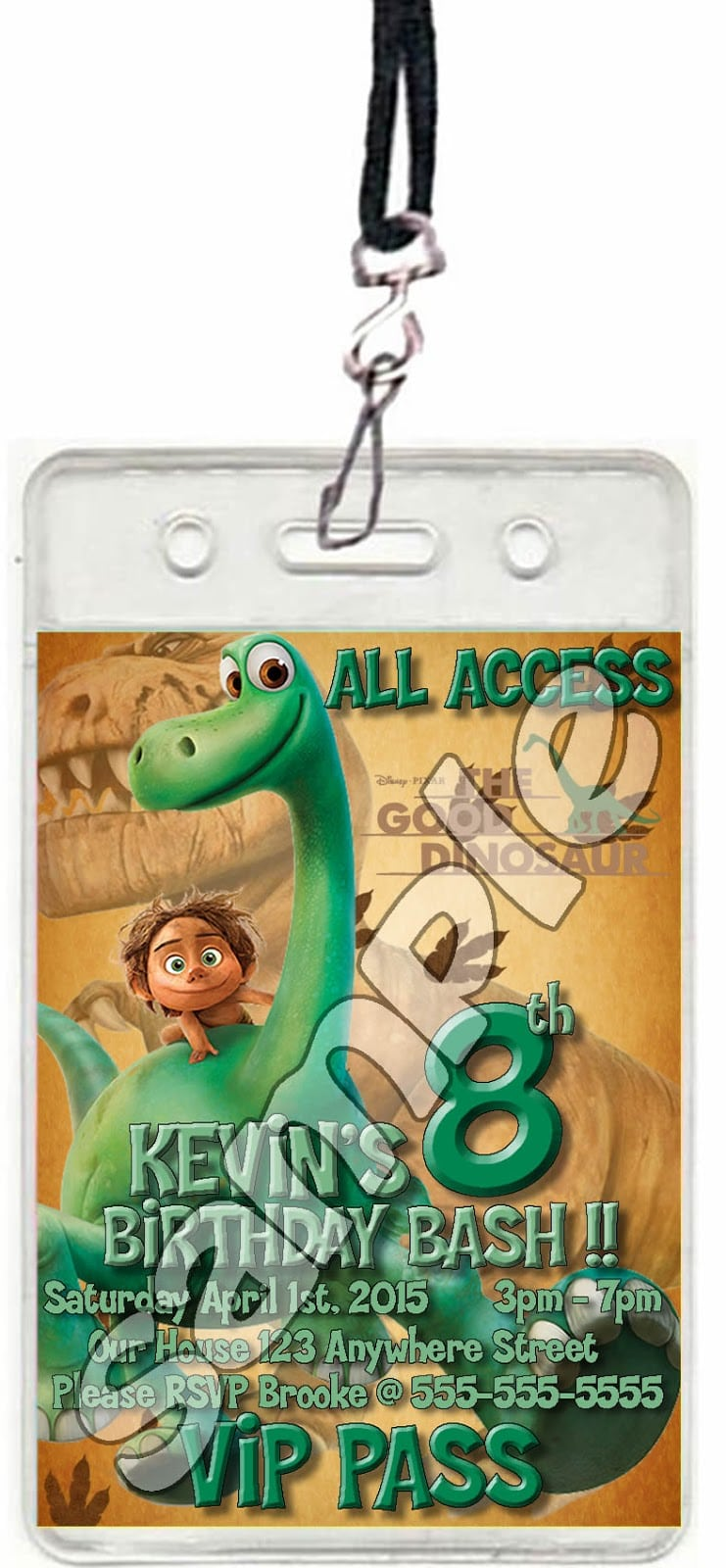 Reel Party Invitations  The Good Dinosaur Complete Personalized