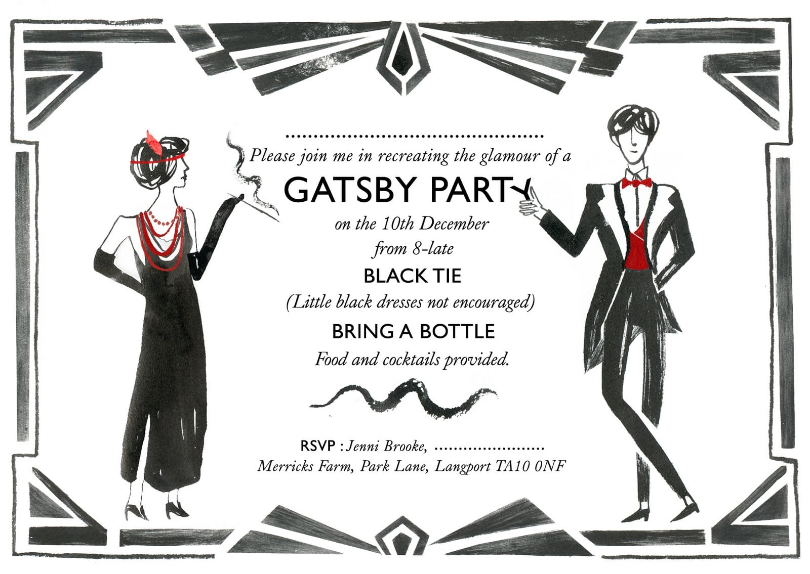 Related Keywords & Suggestions For The Great Gatsby Party Invitations