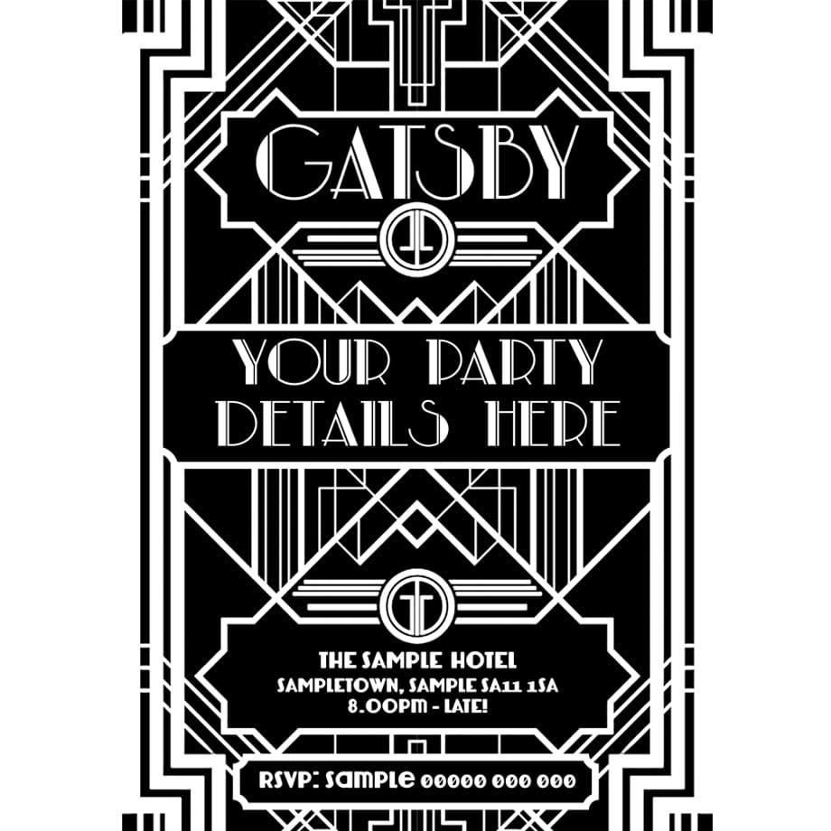 The Great Gatsby Party Invitations Mickey Mouse Invitations – Great Gatsby Party Invitations