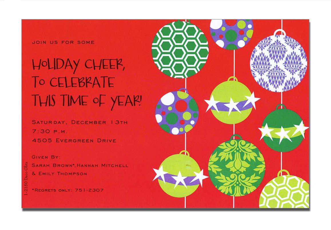 Religious Christmas Invitations