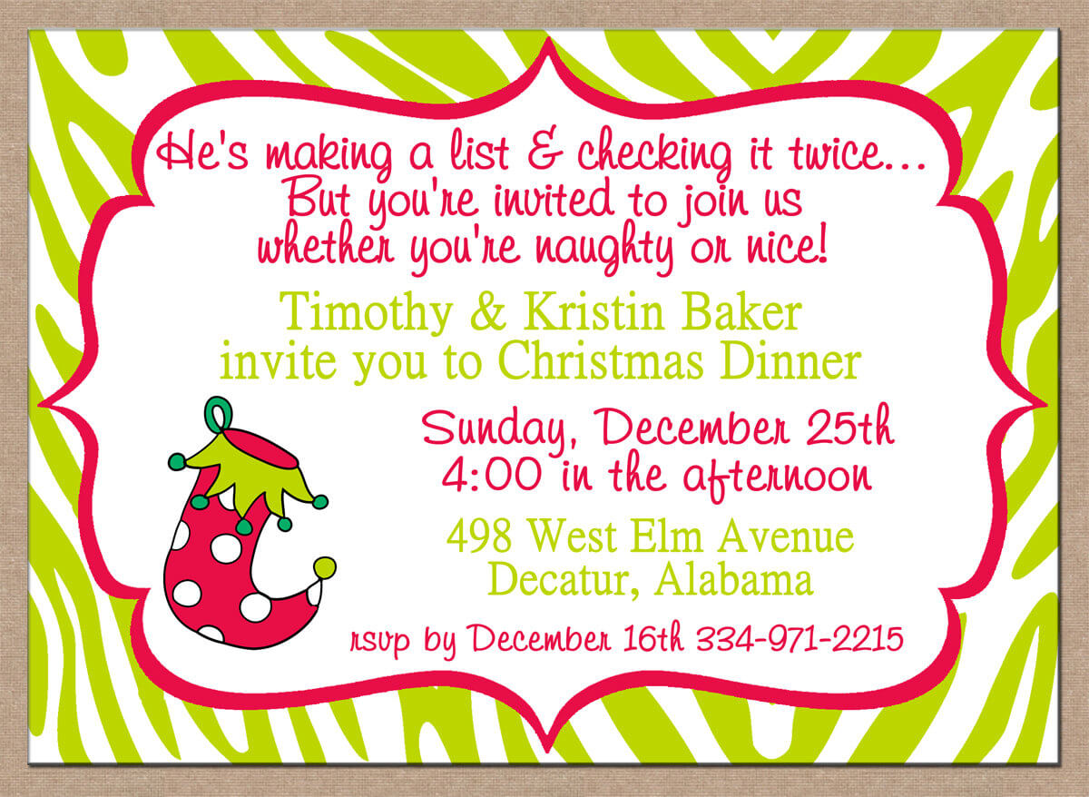 Funny Christmas Party Invitation Wording Mickey Mouse Invitations Templates