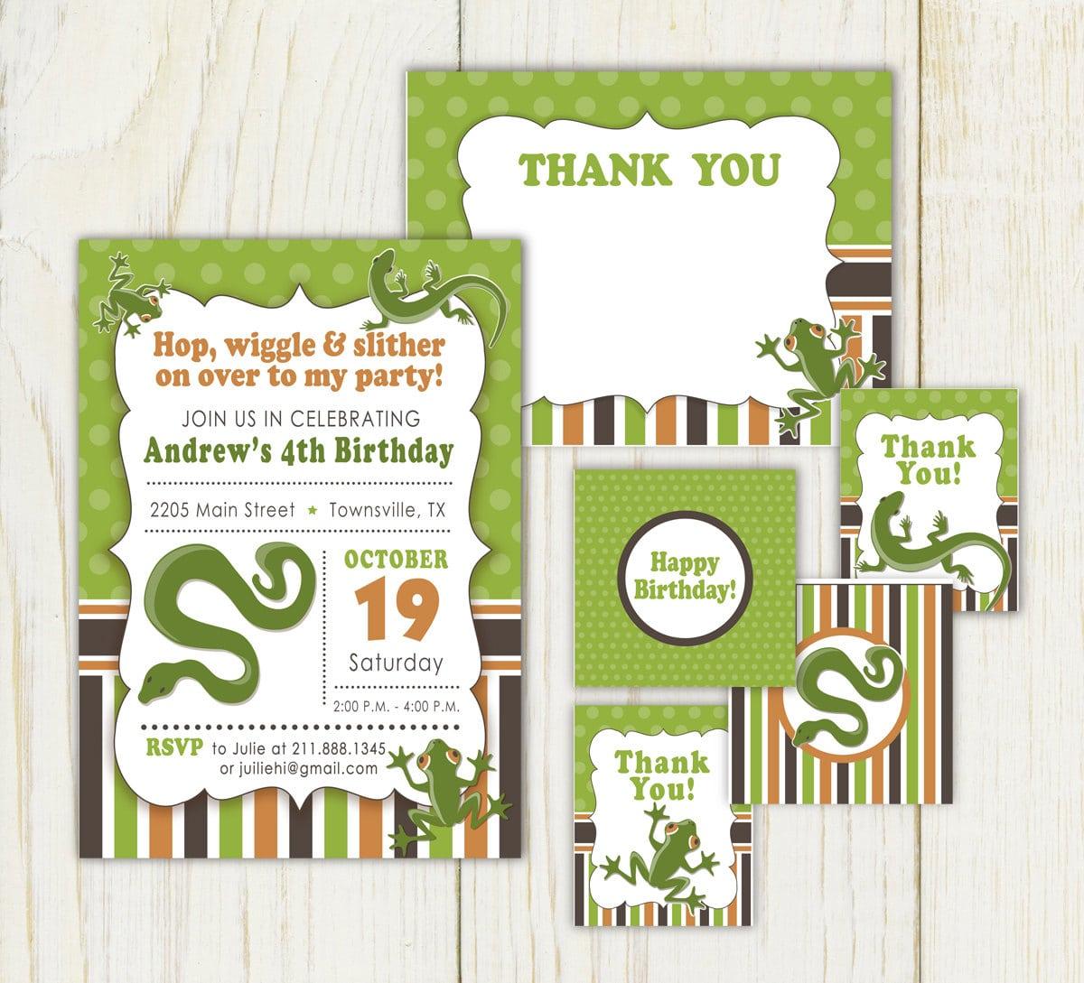 Reptile Birthday Invitations