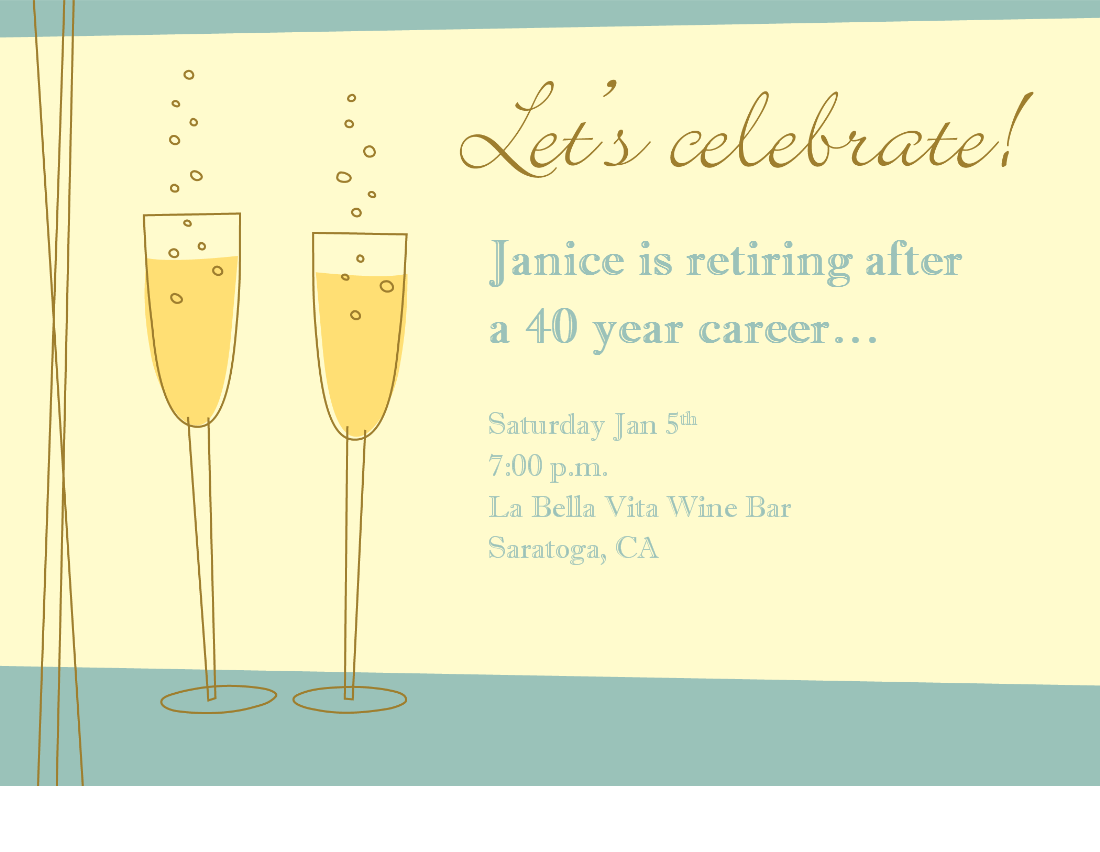Retirement Party Invitation Powerpoint Templates